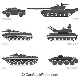 Images of armored vehicles - Stylized images of armored...