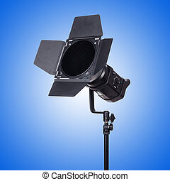 Studio light stand isolated on the white