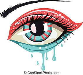 Red Blue Colors Eye