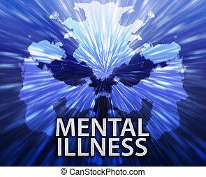 Mentale, malattia, inkblot, fondo