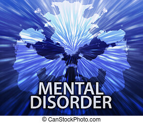 Mental disorder inkblot background - Psychiatric treatment...