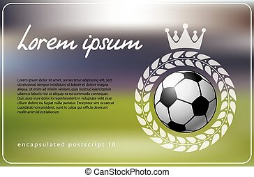 Soccer theme background. Vector illustration