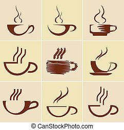 Set of coffee cups Vector illustration