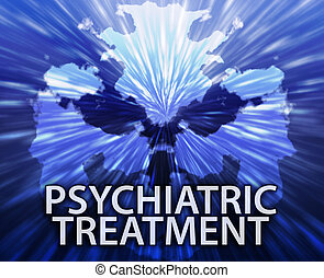 Psychiatric treatment inkblot background