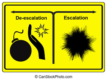 Escalation or De-escalation - Concept sign to explain the...