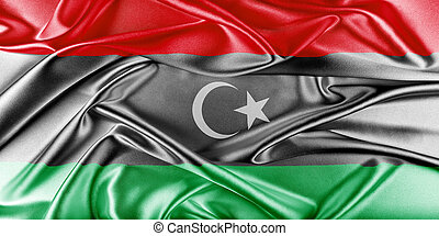 Libya Flag Flag with a beautiful glossy silk texture