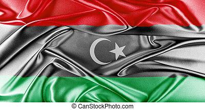Libya Flag - Libya Flag. Flag with a beautiful glossy silk...