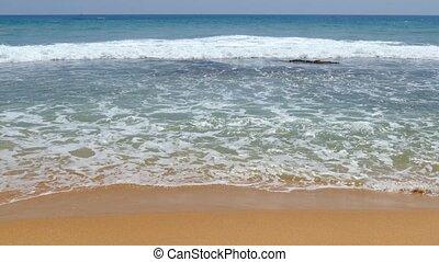 ocean waves on the beach