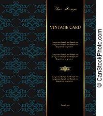 Luxury vintage card
