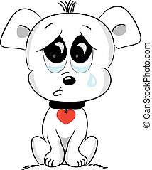 Sad dog. Vector illustration.
