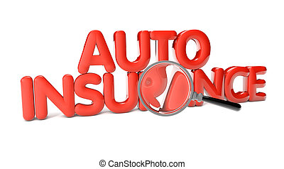 auto insurance text isolated on white background