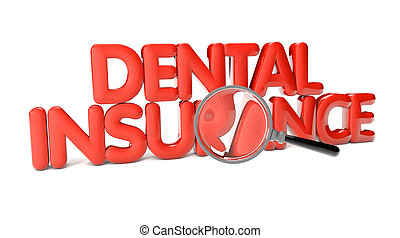 dental insurance text isolated on white background