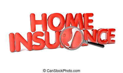 home insurance text isolated on white background