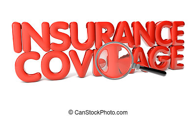 insurance coverage text isolated on white background