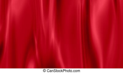 red draped curtain as background