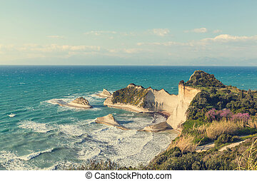 Corfu coast - Corfu island landscapes in Greece