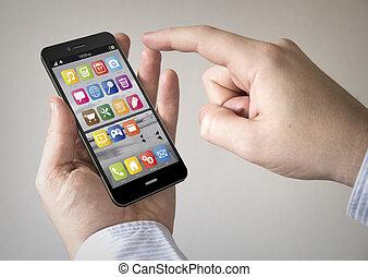 OS, touchscreen, smartphone,