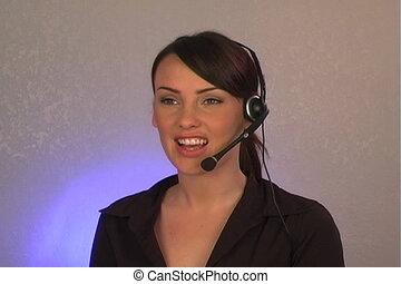 Beautiful Customer Service Operator - A beautiful, sexy...