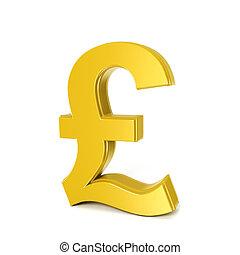 golden shinny pound symbol