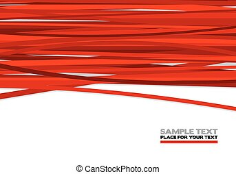 Red stripes, abstract background illustration