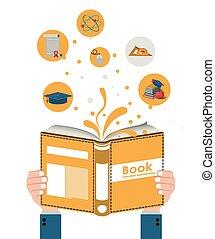 e-learning design over white background, vector illustration