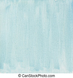 light blue watercolor abstract with canvas texture