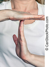time out gesture - hands with time out gesture