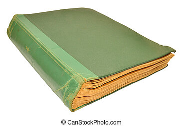 Old Scruffy Book - An old scruffy green hardback book...