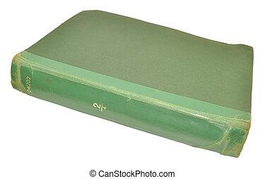 Old Scruffy Book - An old scruffy green hardback book...