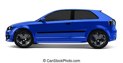 side view of coupe car - A CG render of a generic coupe...