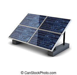 solar panel isolated on white background