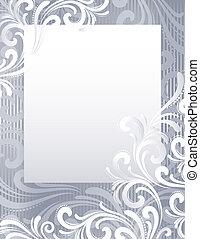 frozen background - Silver frozen background