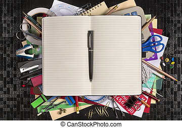 Stationery - Back to School - Space for Text - Selection of...