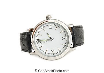 Wristwatch on white background