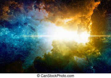 Deep space background - Astronomical scientific background,...