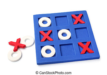 Tic-tac-toe game on white background