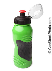 Sport plastic water bottle on white background