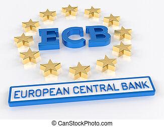 ECB European Central Bank - 3D Render - ECB European Central...