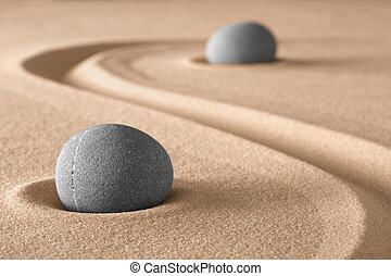 zen garden meditation stone - spirituality and spa wellness...