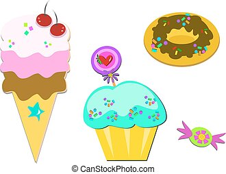 Assortment of Yummy Sweets