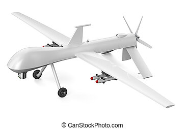 unmanned aerial vehicle UAV isolated on white background