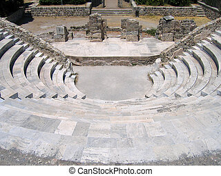 Ruins of the Greek Theater Island of Kos, Greece