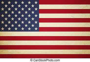 USA Flag - Grunge USA Flag