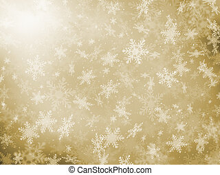 Golden snowflakes