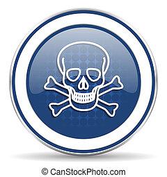 cráneo, icono, muerte, señal,