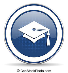 education icon, graduation sign