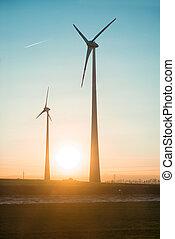 Wind turbines farm generators - Wind turbines farm...