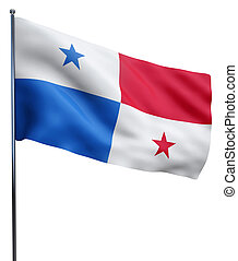 Panama Flag Image - Panama flag waving image isolated on...