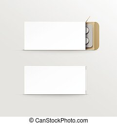 Vector Blank Package Box for Blister of Pills - Vector Blank...