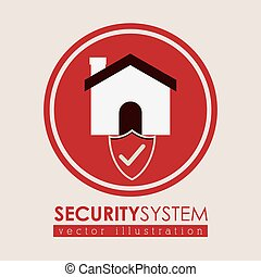 Security system design over white background, vector...